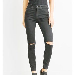 American Eagle Super Hi Rise Ripped Knee Jeggings